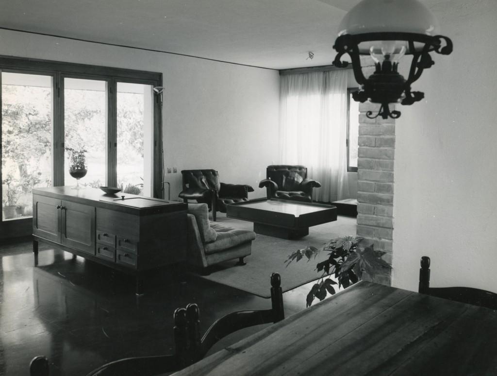 Gli interni della Villa negli anni '60