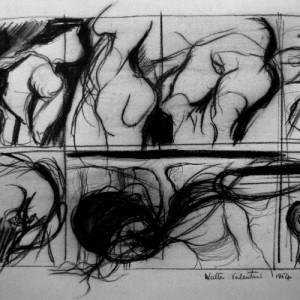 Walter Valentini, Studio di figura
